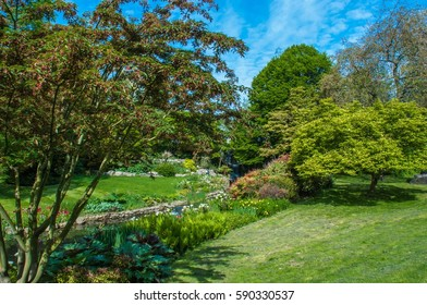 Hyde Park: This is a pic in Hyde Park, London. This is a pic with the spring colors, the green grass, the trees and the colorful flowers. The blue sky makes the pic more beauty if that is possible.
