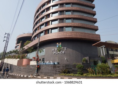 HYDERABAD, INDIA - APRIL 03,2018 Newly opened Hyatt Place Hotel belonging to Hyatt Hotels Corp in Hyderabad,India
