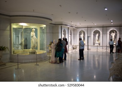 HYDERABAD, INDIA - JUNE 21,2016 Salar Jung Museum is a National Museum of India located in Hyderabad. It has the largest one-man collection of antiques in the world
