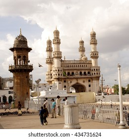 HYDERABAD, INDIA - JUNE 25: Charminar, a famous monument in Hyderabad on 25 June 2006