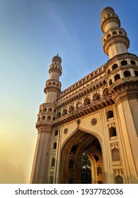 Hyderabad India - March 10, 2021: Charminar the iconing building, Is listed among the most recognized love structures in India, Built in 1591, Hyderabad.