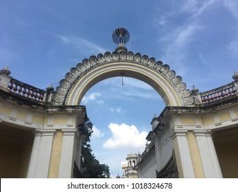 HYDERABAD, INDIA - NOV 16: Chowmahalla Palace in Hyderabad, Andhra Pradesh, in India, as seen on Nov 16, 2017.