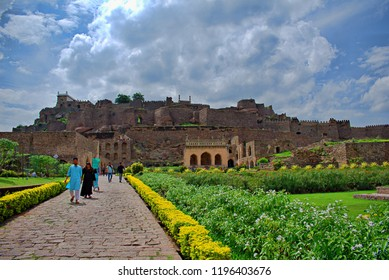 HYDERABAD, INDIA - SEPTEMBER 5, 2018 : BEAUTIFUL VIEW OF GOLCONDA FORT
