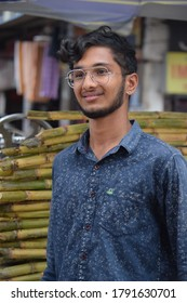 Hyderabad, Telangana, India. August-07-2020: portrait of young man at outdoor