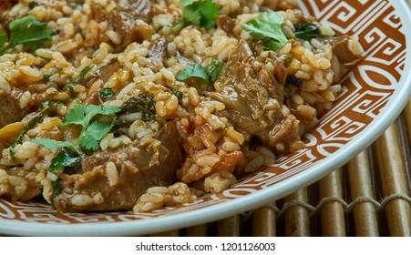 Hyderabadi Mutton Tahari - Mutton Pulao, Hyderabadi Biryani