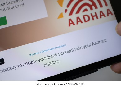 Hyderabad,India. 26th September,2018. India's Supreme Court has ruled that Aadhaar cannot be made mandatory for opening bank accounts and phone numbers.Aadhaar is a 12-digit unique identity number