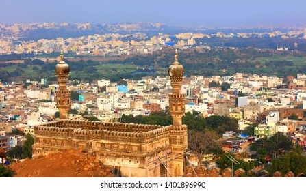 HYDERABAD,INDIA -January 10, Golconda fort in Hyderabad on January 10,2018, Is listed among one of to heritage site in India, Built in 15th century