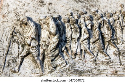 HYDERABAD,INDIA-JANUARY 2:Wall art of M K Gandhi lead Indians against British-salt tax 400 km Dandi Salt March in 1930, begin Quit India movement on January 2,2017 in Hyderabad,India