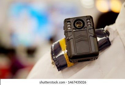 HYDERABAD,INDIA-JUNE 27: body worn camera to capture photos and video during law and order situations by police officers,kept on mannequin to demonstrate the operation on June 27,2019 in Hyderabad