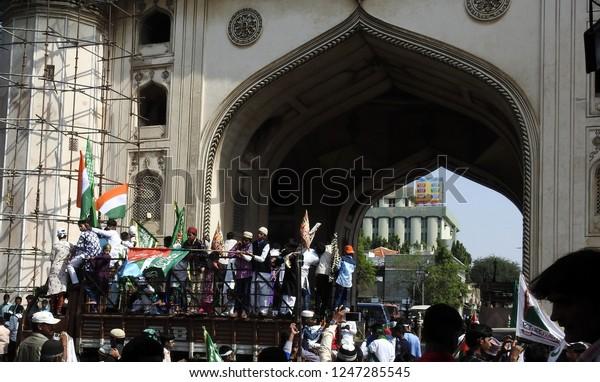 Hyderabadindianovember 21people Celebrate Milad Un Nabi