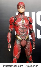 HYDERABAD,INDIA-OCTOBER 14:Closeup Portrait of a character in movie or film Justice League in Hyderabad Comic Con 2017 on October 14,2017 in Hyderabad,India