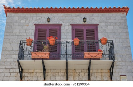 HYDRA, GREECE - MAY 30: Traditional architectural detail on May 30, 2009 in Hydra. Hydra is a Greek island in the Aegean sea popular with tourists.