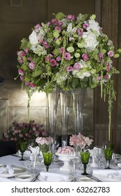 Hydrangea Floral Arrangement in Vase