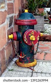 Hydrant  fireplug  spigot old green