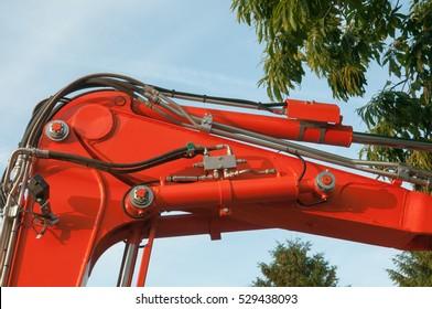 Hydraulic arm of an excavator,