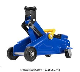 Hydraulic car jack isolated on white background
