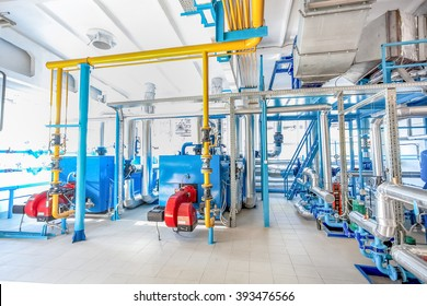 Hydraulic water pipes construction - at factory