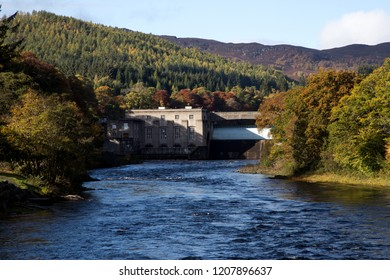 Hydro electric dam at Pitlochry Perthshire Scotland