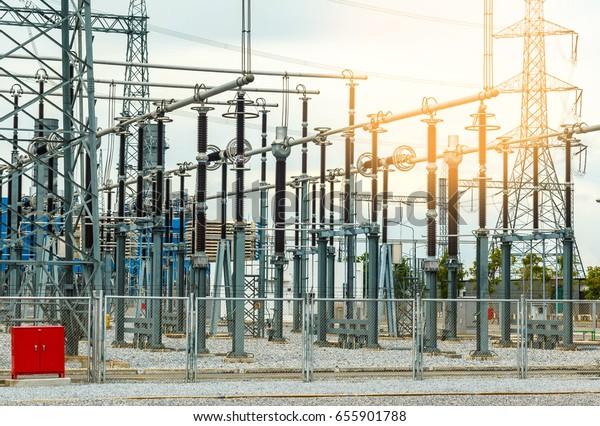 Hydro Electric Electricity Power Plant Powerplant Stock
