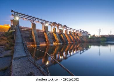 hydro Power Station,dam,sunrise