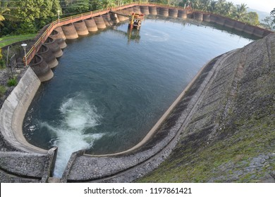 Hydroelectric dam in Ngebel, Ponorogo, East Java, Indonesia