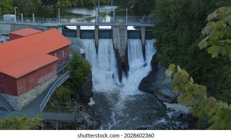 hydroelectric dam power plant electricity turbine generator in Sherbrooke Quebec