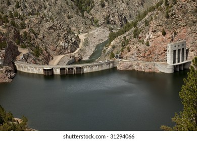 Hydroelectric Dam at a resevoir