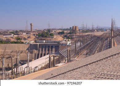 Hydroelectric power plant in Aswan dam  (Egypt). This plant produces over 70% of the electricity for all of Egypt.