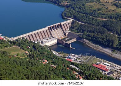 hydroelectric power plant on river industry zone