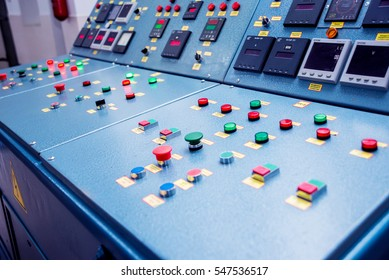 Hydroelectric power plant panel control. Electrical equipment.