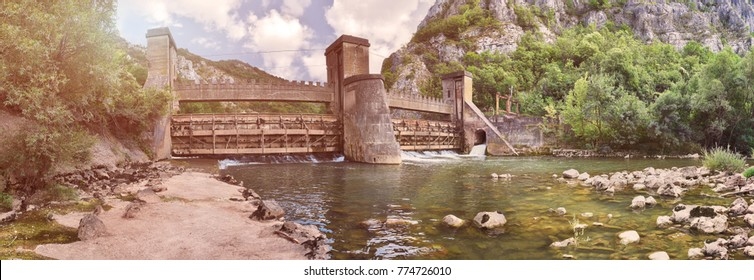 Hydroelectric power plant in Sicevacka gorge near Nis in Serbia. It was built in 1908. and one of the first in Europe. The whole project was made in cooperation with the scientist Nikola Tesla.