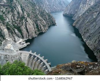 Hydroelectric power station in Arribes del Duero called Mirador de Iberdrola in Salamanca