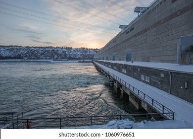 Hydroelectric power station. Bratsk, Siberia, Russia.
