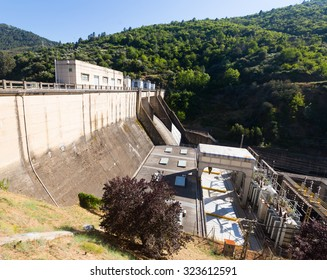 hydro-electric power station on Bibei river.  Spain