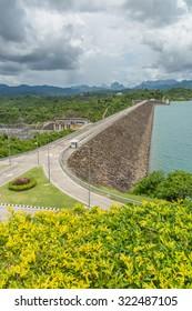 Hydroelectric power station on Cheow Lan Dam (Ratchaprapha Dam) in Thailand