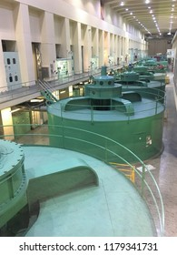 Hydroelectric turbines at the Grand Coulee Dam in Washington