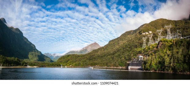 The Hydro-Electrical Power Plant built on the West arm of Lake Manapouri made it easier for the remote and wild area of Doubtful Sound to be open for tourism -Fiordland National Park, New Zealand.