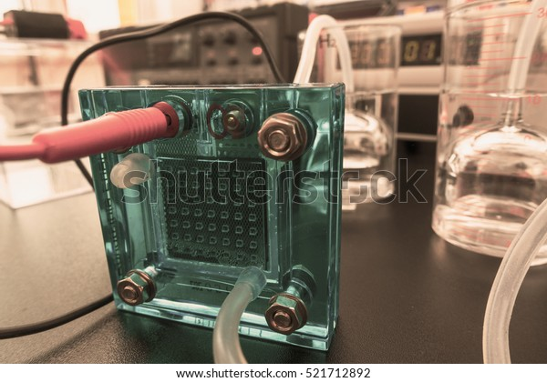 Hydrogen Fuel Cell Fuel Cell Device Stock Photo (Edit Now