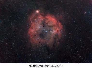 Hydrogen Nebula IC-1396 in Cepheus.