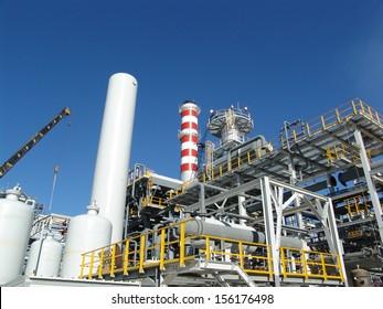 An hydrogen plant refinery under construction