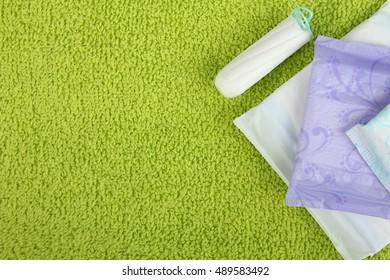 Hygiene feminine pads and menstruation tampon