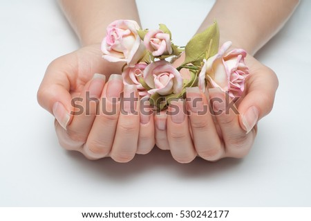 Hygienic Manicure On Natural Healthy Nails Stock Photo (Edit Now ...