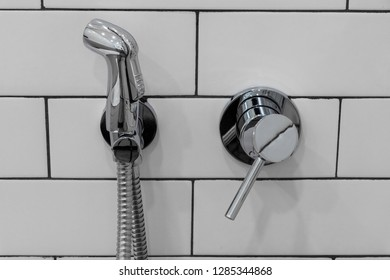 Hygienic shower in the bathroom