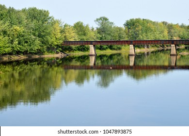 Hyla Park Nature Preserve Walking Bridge Fredericton New Brunswick Canada