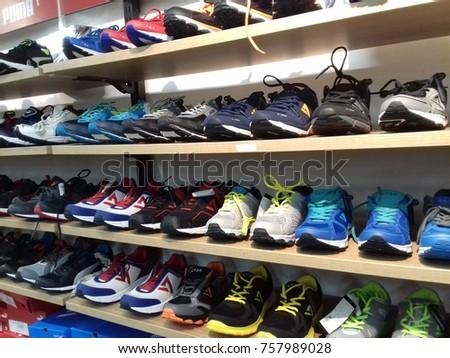 aecae01008e5 Hypercity Store Shoe Section Inorbit Mall Stock Photo (Edit Now ...