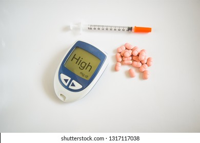 hyperglycemia and diabetes concept