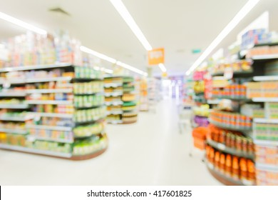 hypermarket in blurry for background