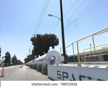 hypertube prepared for spacex hyperloop competition, Los Angeles, June 2017