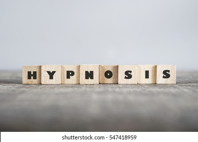 HYPNOSIS word made with building blocks