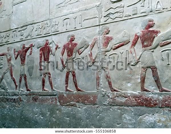 Hyroglyphics at Asuan Pyramid